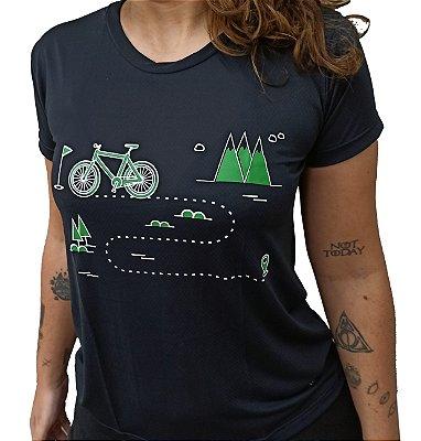 Baby Look Poliamida Esporte Running Trilhas Bike Preta  Monaro