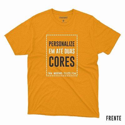 Camiseta personalizada 100% poliamida crepe running cor laranja flúor - Pedido mínimo de 6 unidades