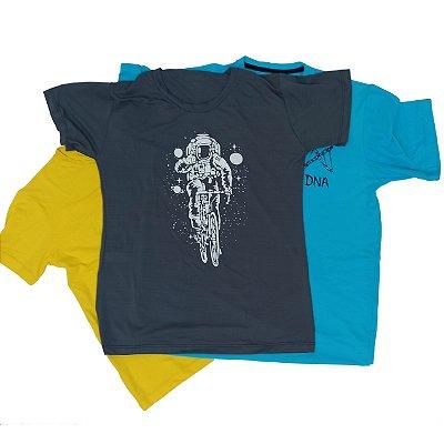 Kit 3 Camisetas Sortidas Running 100% Poliamida
