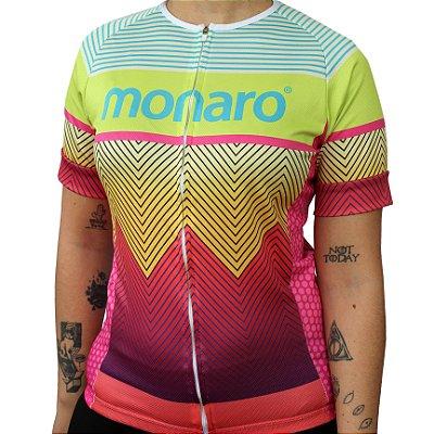 Camisa Feminina Color Mix Comfort Classic Ciclismo Monaro