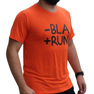 Camiseta Poliamida Esporte Running Menos Bla Mais Run Monaro