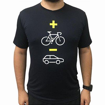Camiseta Poliamida Esporte Running Mais Bike Menos Carro Monaro