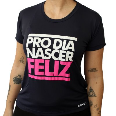 Baby Look Poliamida Esporte Running Pro Dia Nascer Feliz Monaro