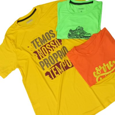 Kit 3 Camisetas Sortidas Premium 100% Poliamida