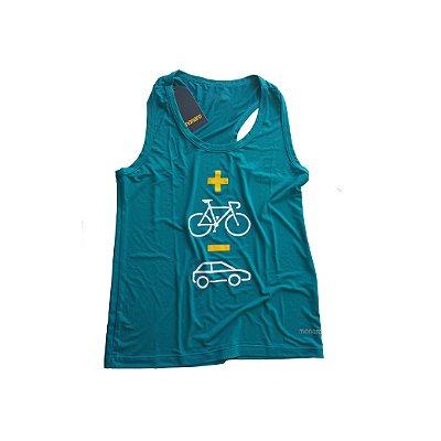 Regata Feminina Nadador Poliamida Esporte Running Mais Bike Menos Carro Monaro