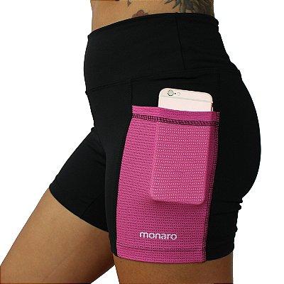 Shorts Feminino Corrida Premium Ondas Pink