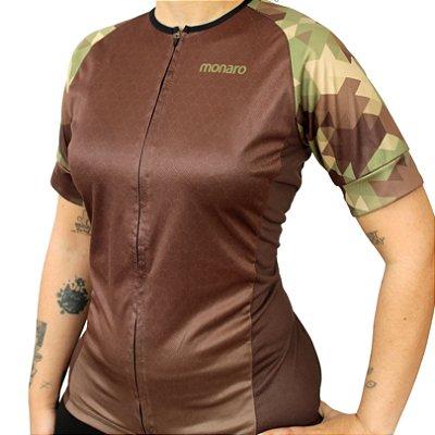 Camisa Feminina Ciclismo Army Comfort Classic Monaro