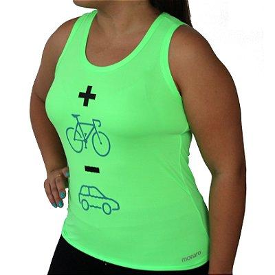 Regata Feminina Poliamida Esporte Running Mais Bike Menos Carro Monaro