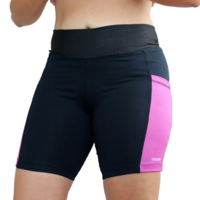 Bermuda Feminina Corrida Premium Ondas Pink