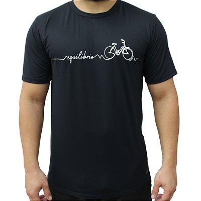 Camiseta Poliamida Esporte Running Equilíbrio Preto