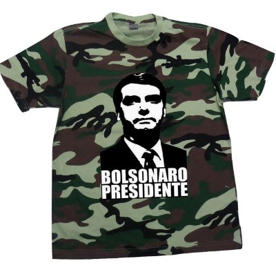 Camiseta Camuflada Bolsonaro Presidente