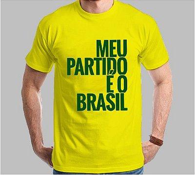 Camiseta Meu Partido É o Brasil