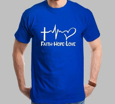 Camiseta Faith-Hope-Love