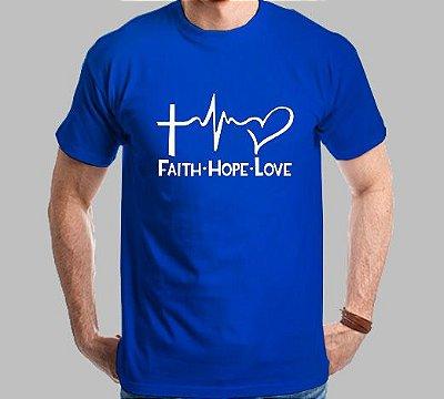 Camiseta Faith-Hope-Love