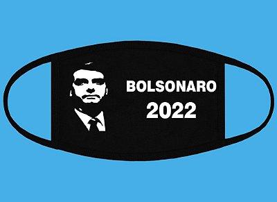 Máscara preta Bolsonaro 2022