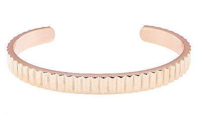 Pulseira de aço masculina estilo bracelete modelo King rosé