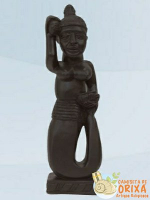 Iemanjá Ioruba 30cm gesso
