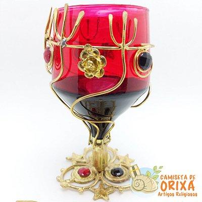 Taça Pomba Gira Metal Tridente