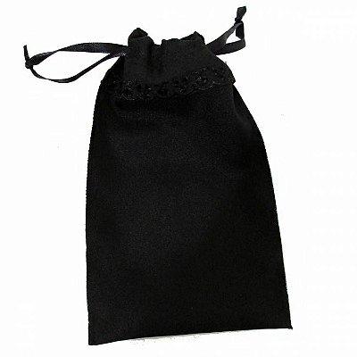 Porta Tarot Preto em Tecido 22cm