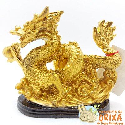 Dragão Dourado 9cm