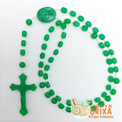 Terço Verde Plástico