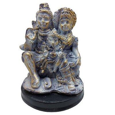 Família Shiva em Gesso 15cm