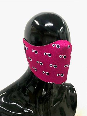 THE MASK: Máscaras Faciais em Neoprene  - Modelo Vis - Cor Pink