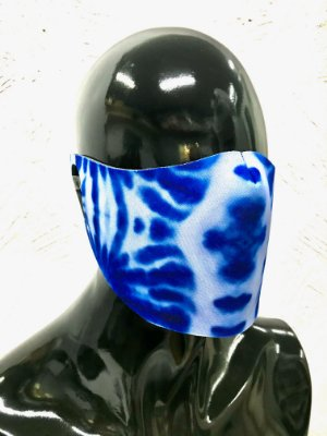 THE MASK: Máscaras Faciais em Neoprene  - Modelo TIE DYE - Cor Azul