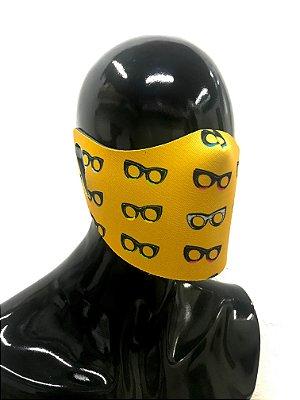 THE MASK: Máscaras Faciais em Neoprene  - Modelo THY - Cor Amarelo