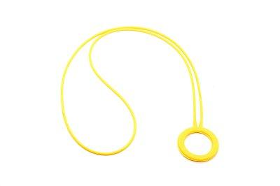 PINGENTE SICUREZZA Silicone Modelo: CÍRCOLO cor Amarelo