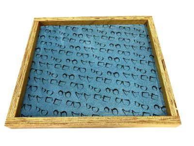 BANDEJA Expositora de Madeira Rústica Modelo: SANT_G cor Azul