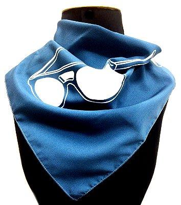 LENÇO DE PESCOÇO ou DE CABEÇA Modelo: Esse Único cor Azul