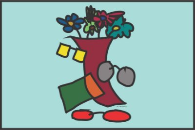 MICROFIBRA Limpeza Customizada Modelo: Vaso Flores Positivo