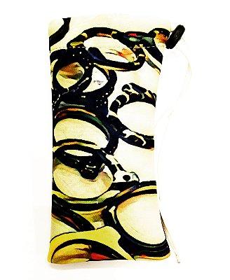 ESTOJO Neoprene Modelo: Pinge Oclinhos cor Bege