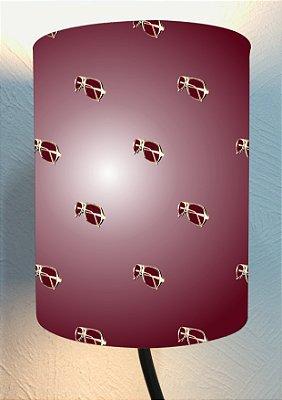 CÚPULA_ILUMINAÇÃO 20x25cm Modelo: SEVENTIES II cor Vinho