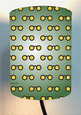 CÚPULA_ILUMINAÇÃO 20x25cm Modelo: OCLINHOS cor Verde