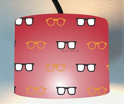 CÚPULA_ILUMINAÇÃO 30x35cm Modelo: DUPLO cor Vermelho