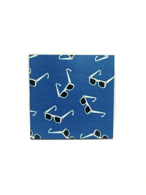 PORTA COPOS_Kit com 06 unids. Modelo: STRACCIATTINA cor Azul