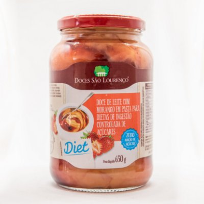 Doce de Leite com Morango Diet 650g