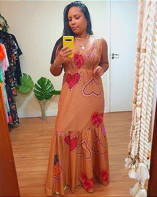 Vestido Longo Tricoline Estampa Meu Bem - Dress To