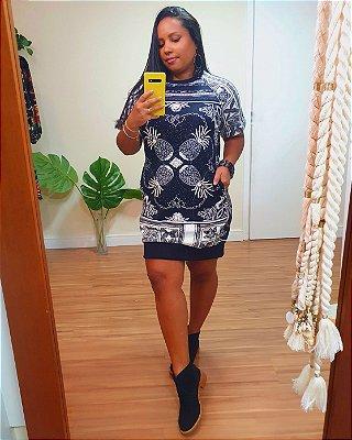 Vestido Moletom Estampa Bandacaxi - Dress To