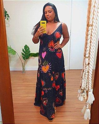 Vestido Cropped Estampa Amor - Dress To