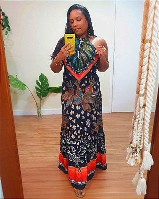 Vestido Longo Estampa Luau - Dress To