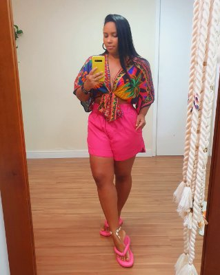 Short Amplo Rosa Pitaia - Dress To