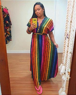 Vestido Cropped Vôo Colorido - Farm