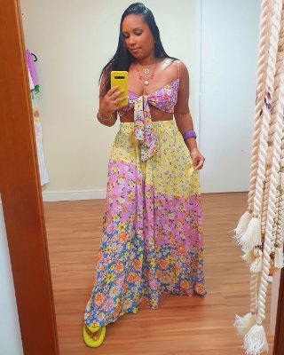Saia Longa Estampa Floralia - Dress To
