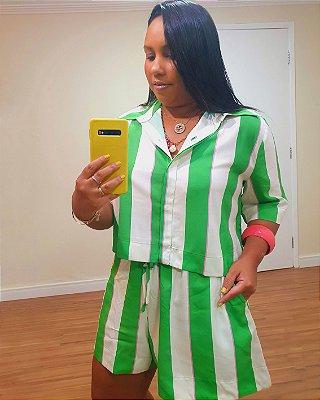 Camisa Estampa Lilly Verde - Dress To