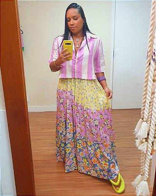 Camisa Estampa Lilly Lavanda - Dress To