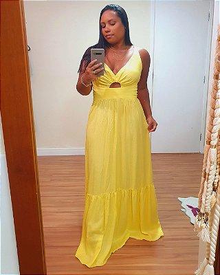 Vestido Longo Maria Amarelo - Dress To
