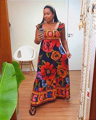 Vestido Midi Antuerpia - Farm